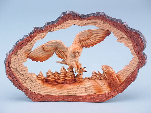 Wood Effect Owl in Log