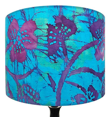Blue Tie Dye Tropical Flowers handmade shade, Drum or Empire Shapes
