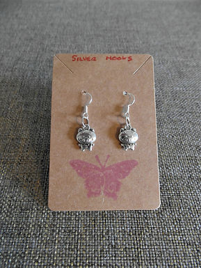 Pig Earrings With Silver Hooks