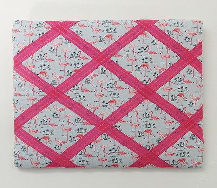 Pink Flamingos Fabric Handmade Memo Board