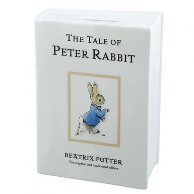 Beatrix Potter Peter Rabbit Ceramic Book Money Bank A28347