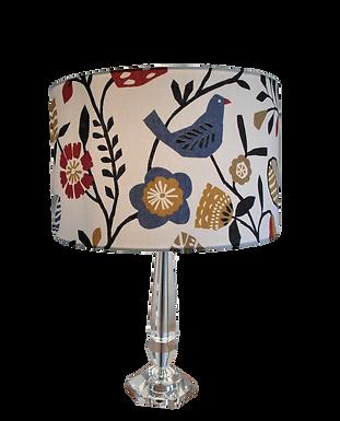 Folki Birds and Leaves Folk Style Fabric Handmade Lampshad
