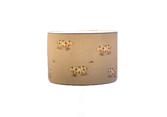Clearance Old Spot Pigs Handmade Lampshade