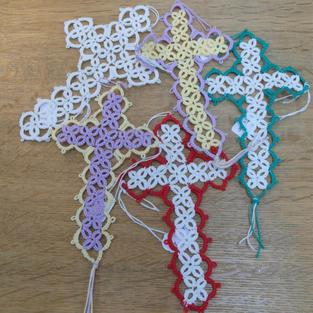 Tatting Lace Crosses