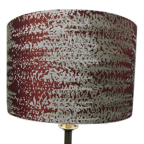 Abstract Red Flash fabric Handmade Drum Lampshade