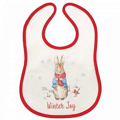 Peter Rabbit Christmas Bib