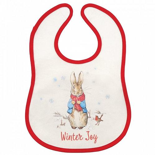 Peter Rabbit Christmas Bib
