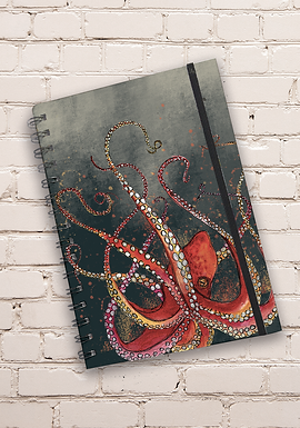 Dollyhotdogs Octopus Hard back Notebook