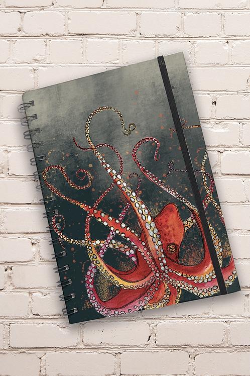 Dollyhotdogs Octopus Hard back Notebook
