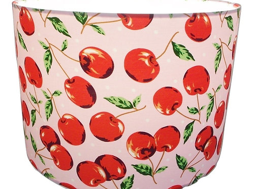 Retro Cherries shade, Drum or Empire Shapes