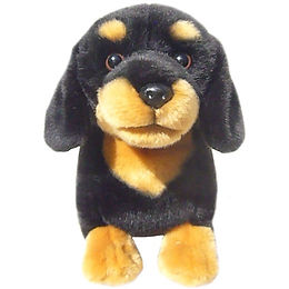 12'' Black and Tan Dachshund Soft Toy