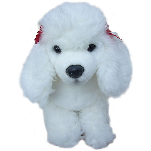 12'' White Poodle Soft Toy