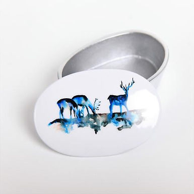 Stag Silhouette Recycled Aluminium Trinket Box