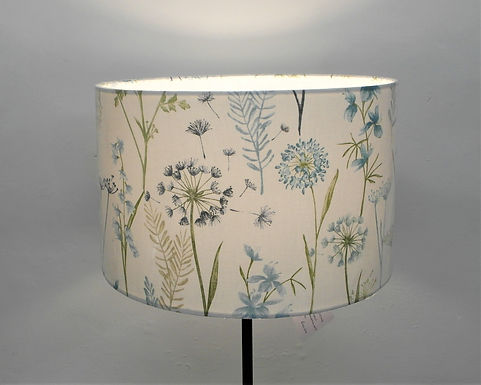 Teal Wildflowers Handmade Lampshade, Drum or Empire Shapes
