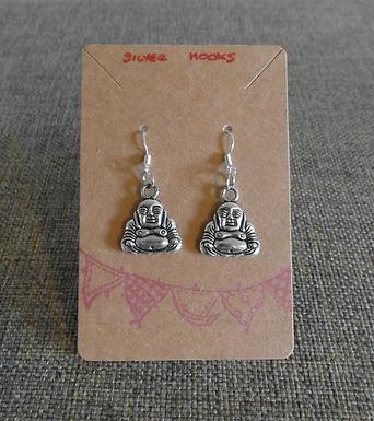 Buddah Earrings With Silver Hooks
