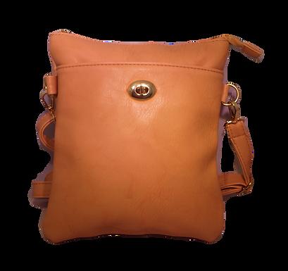 Cream Front Pocket Shoulder Bag