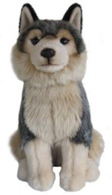 12'' Grey Wolf Soft Toy