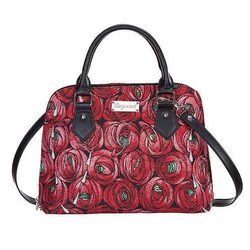 Signare Tapestry Rose & Teardrop Top Handle Bag