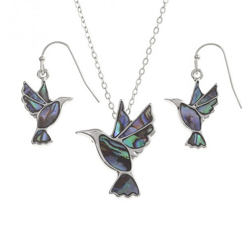 Humming Bird Necklace and Earring Set, TJ085