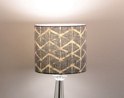 Fabian, Denim Blue Modern Design, Handmade Lampshade