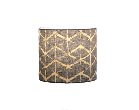 Fabian Denim Blue  Modern Design Handmade Lampshade, Drum or Empire Shapes