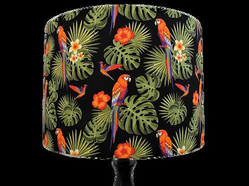 Tropical Parrots Handmade Shade