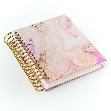 Rose Quartz A5 Hard Backed Planner