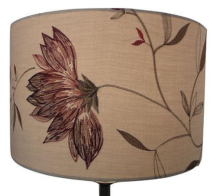 Embroidered Flower fabric Handmade 40cm Drum Lampshade