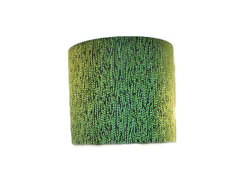 Lime Green Textured Handmade Lampshade, Drum or Empire Shapes