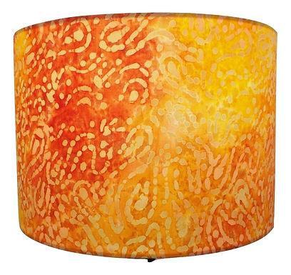 Orange Tropical Sari Handmade Lampshade, Drum or Empire Shapes