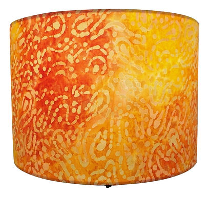 Orange Tropical Sari Handmade Lampshade, Drum or Empire Shapes