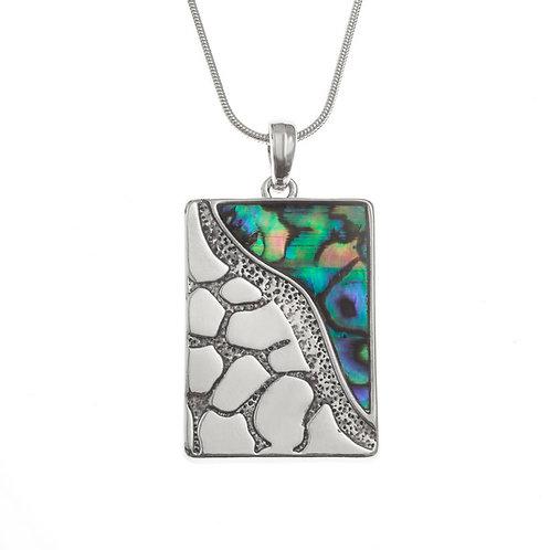 Inlaid Paua Shell Seashore Necklace, TJ173