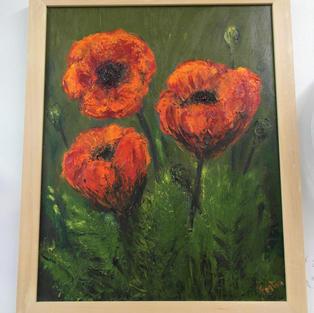 Oil Paint Poppies, Barbara Fenton