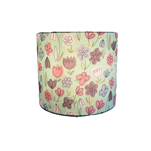 Mint Tulip Garden, Handmade Lampshade