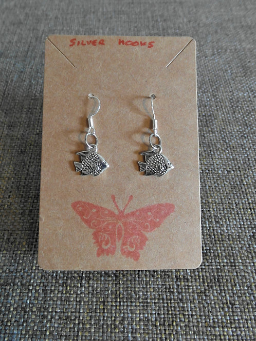 Fish Earrings With Silver Hooks