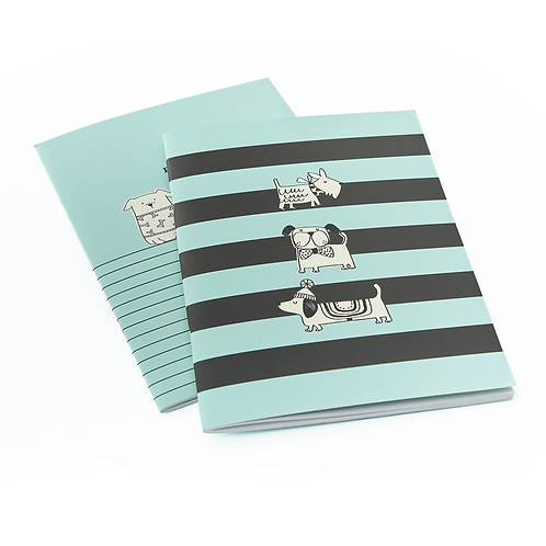 Set of Two Dog A5 Exercise Books