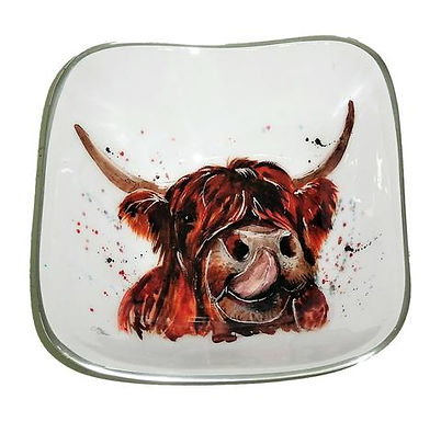 Highland Cow Square Recycled Aluminium Bowl