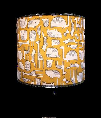 Mustard Animals Handmade Lampshade