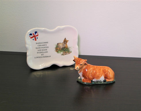 Babbacombe Pottery Collectable Small Brown Cow
