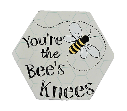 Bee's Knees Set of Two Coasters