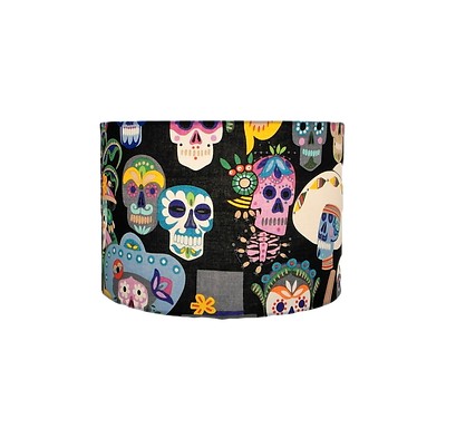 Sugar Skulls, Day of the Dead, Handmade Lampshade, Drum or Empire Shapes