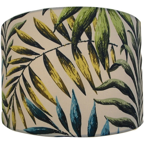 Palm Leaves Tropical Feel Handmade Lampshade, Drum or Empire Shapes