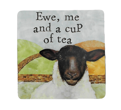 Sheep Coasters Set of Two