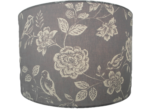 Clearance Grey Birds and flowers handmade lampshade