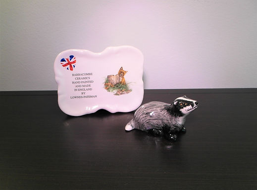 Babbacombe Pottery Collectable Small Badger Cub