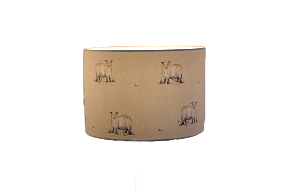 Rare Breed Sheep Handmade Lampshade