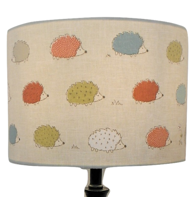 Colourful Hedgehogs lampshade