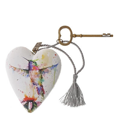 Hummingbird Art Heart