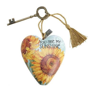 My Sunshine, Sunflower Art Heart
