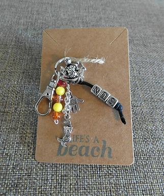 Sun Beach Themed Keychain